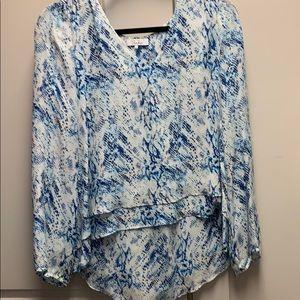 Parker snakeskin blouse